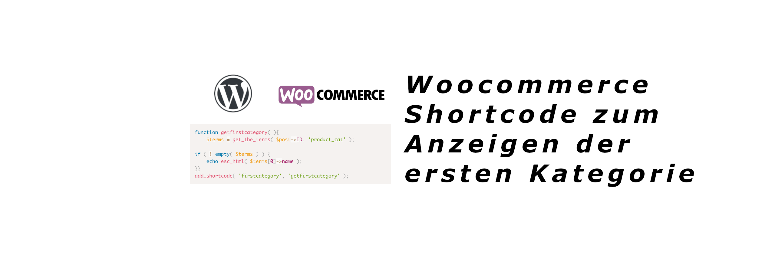 woocommerce shortcode first category